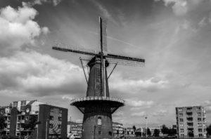 Een molen: symbool van een stukje Hollandse glorie in Rotterdam